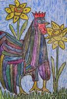 shining rooster by ingeline-art