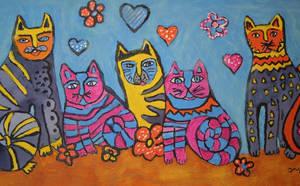 valentine cats by ingeline-art