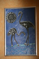 Newest work: flamingos in silver by ingeline-art