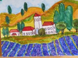 view  to lavenderfield by ingeline-art