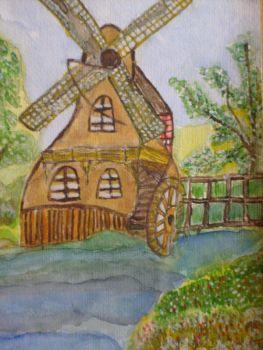Old Watermill In Spring by ingeline-art