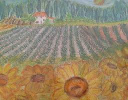 Sunflowerfield by ingeline-art