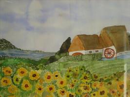 landscape with sunflowers by ingeline-art