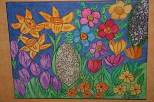 spring garden by ingeline-art