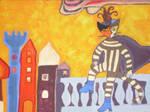 carnival cat at castle