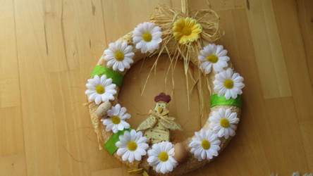 selfmade doorwreath for spring by ingeline-art