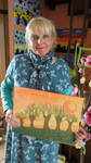 Ingeline and her newest painting wit pastell chalk by ingeline-art