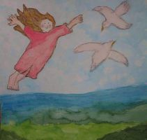 Flying Away - I am in holidays at my birthday by ingeline-art