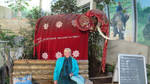 Ingeline and the elephant figure by ingeline-art
