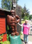 Ingeline and the viking figure by ingeline-art