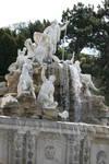 fountains in castle garden