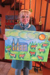 Ingeline and her newest painting by ingeline-art