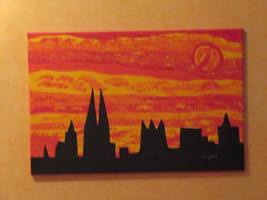 Cologne In Sunset