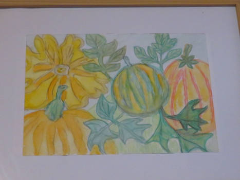 poumpkin painting from Ingeline