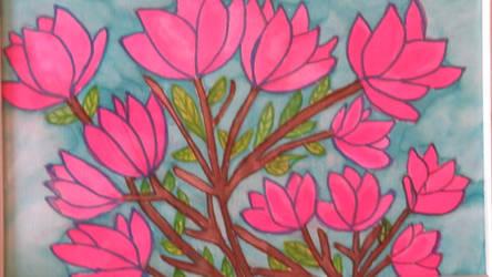 Magnolias in spring