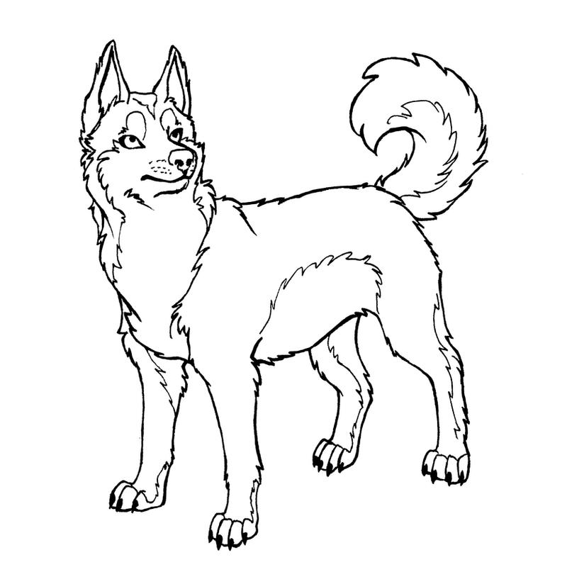 Husky Dog Sled Coloring Pages Coloring Pages
