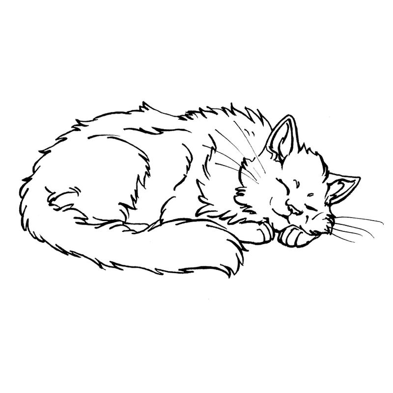 Скрапбукингу, рисунок спящие котята