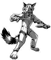 Battle cat by Xiphosuras