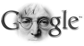 Google John Lennon Tribute by leinad56