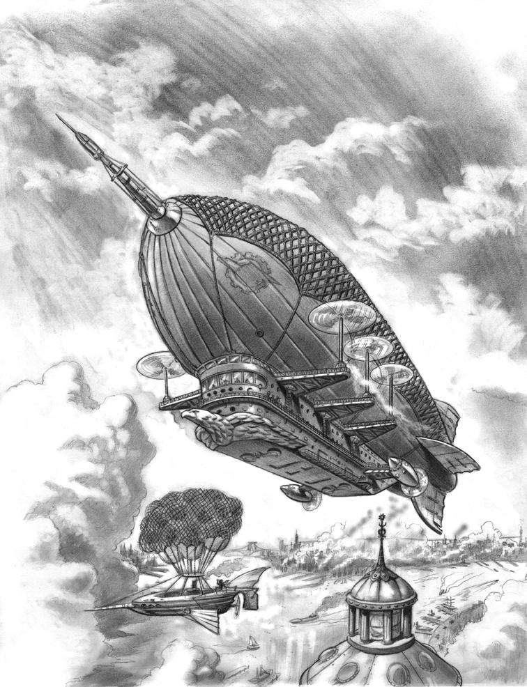 Steampunk Airship by bronxboy53