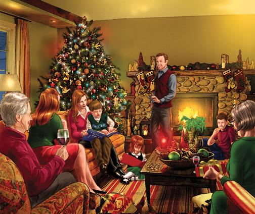 Traditional Christmas.Traditional Christmas Scene By Bronxboy53 On Deviantart