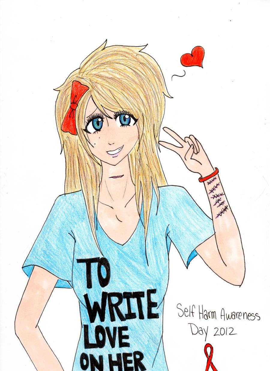 Self harm awareness drawings