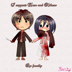 I support eren and mikasa as family with blood