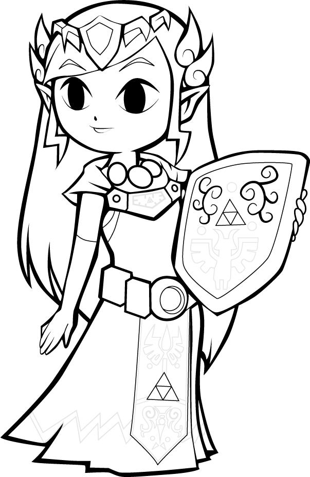 Line Art Zelda : Zelda lineart by lainsnavi on deviantart