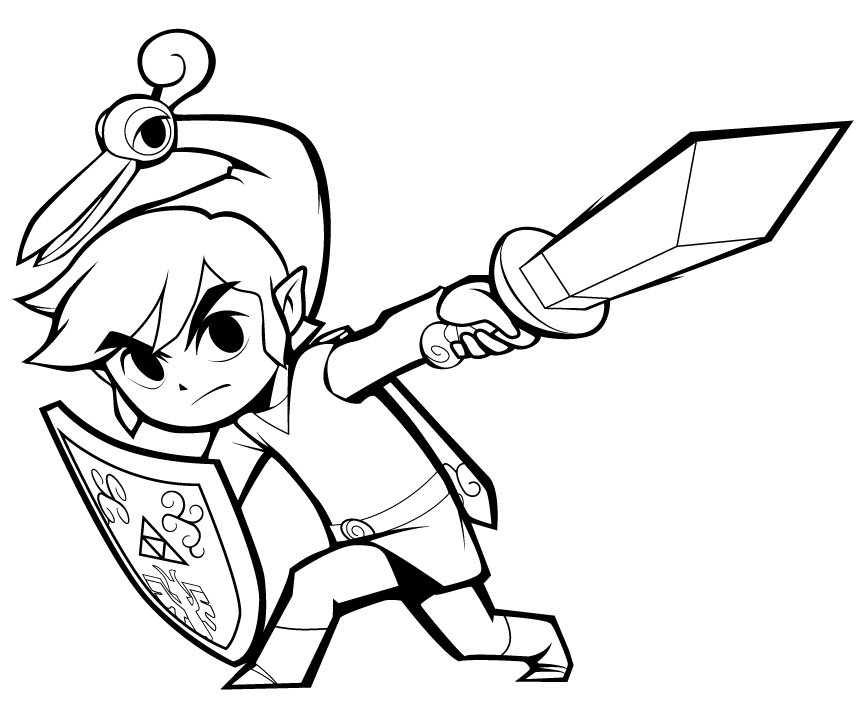 Toon Link - Free Coloring Pages