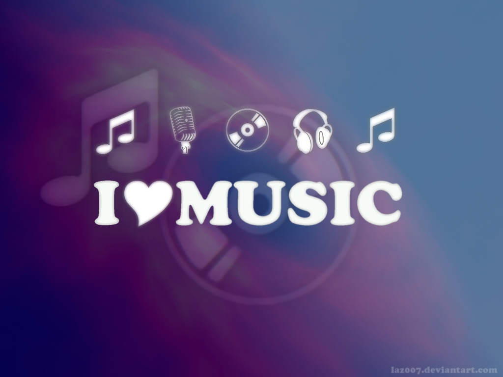 I Love Music - Blue-Violet by laz007 on DeviantArt