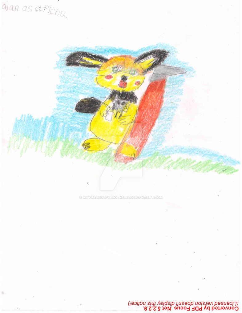 Alan As A Pichu 1 by kaylabuglovesgenesis
