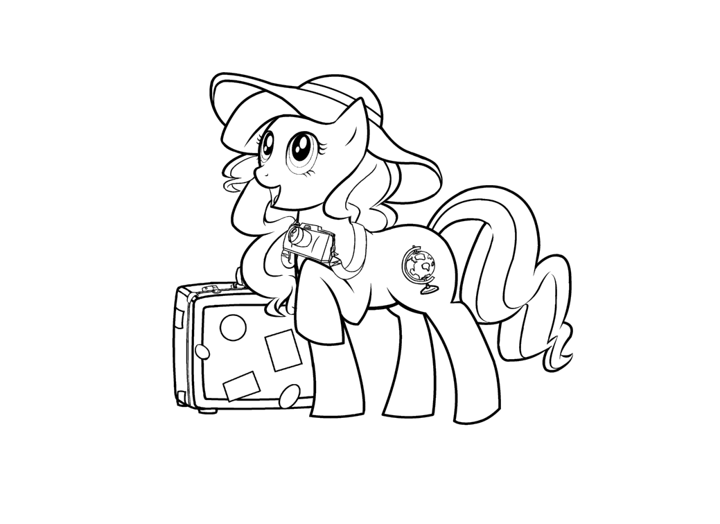 Pony OC line art by Mizulyn