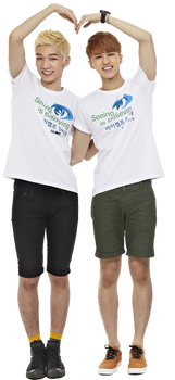 Vixx Hyuk and Ken Heart Transparent