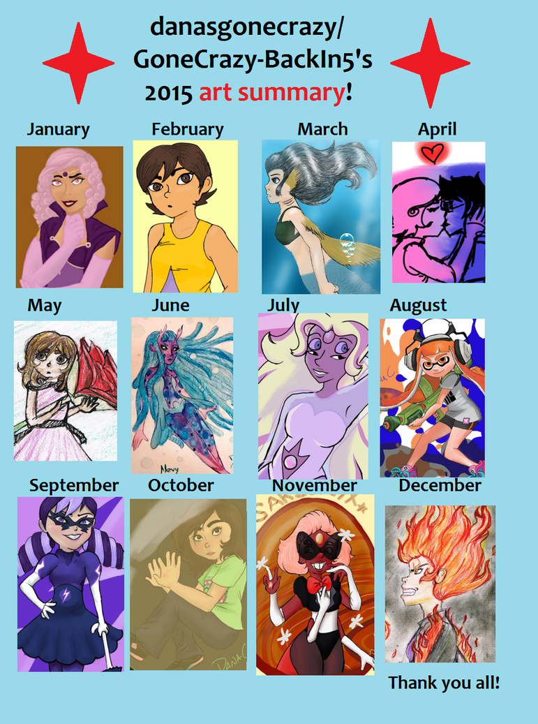 2015 Summary of Art by GoneCrazy-BackIn5