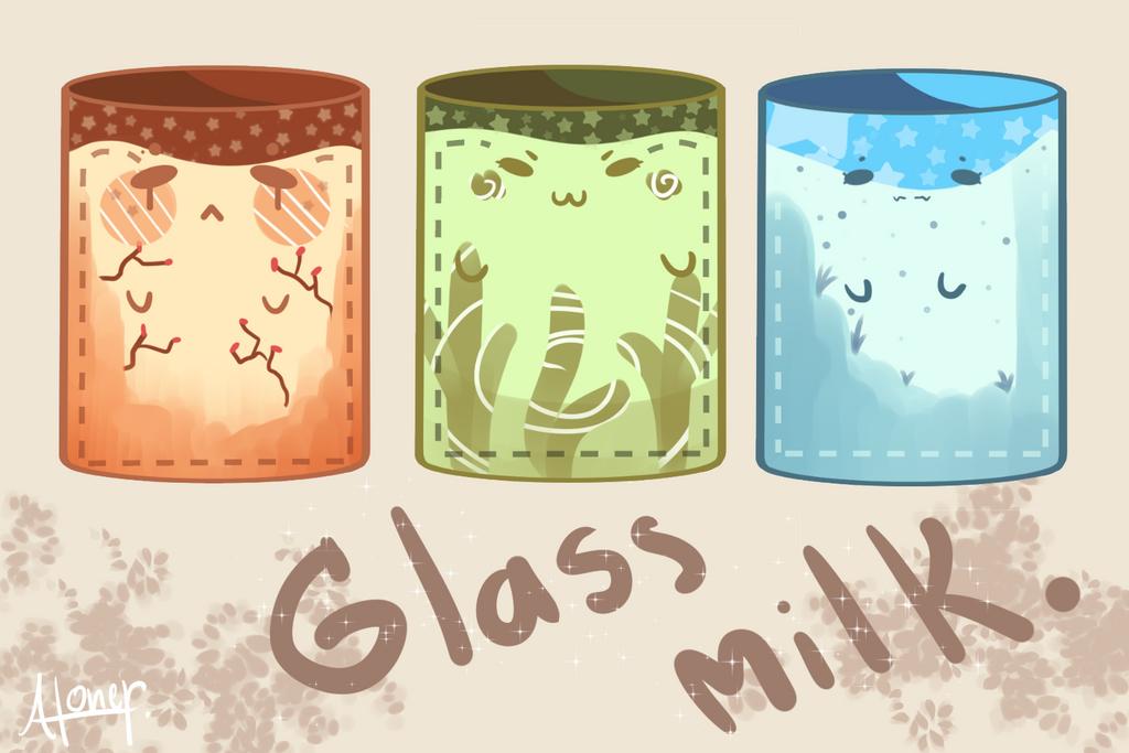 Glass milk by Usagiwasan