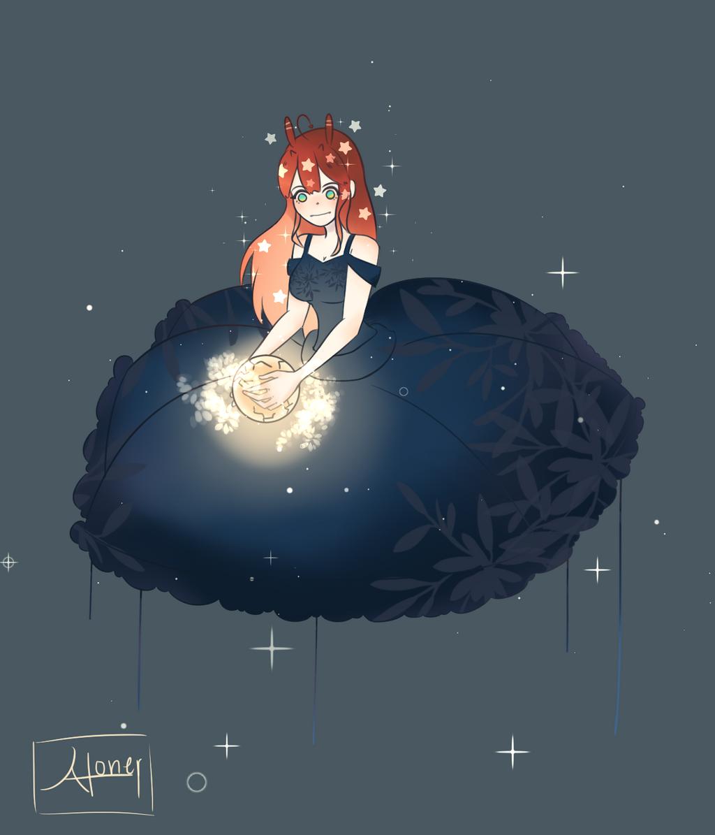 Little Moon by Usagiwasan