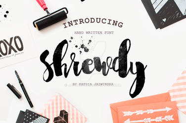 Shrewdy Hand Script by Jazwinska