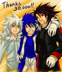 Thank  you 30k:Hedgehog trio 2 by maruringo