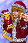 Merry Christmas:Samus,Pikachu