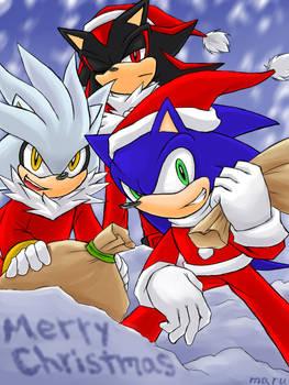 Merry Christmas:hedgehog Trio2