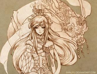 Eva lineart by shinjyu