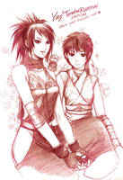 Doodles series - Ayame and Rin by shinjyu