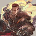 FFXIV commish - Warrior Hyur