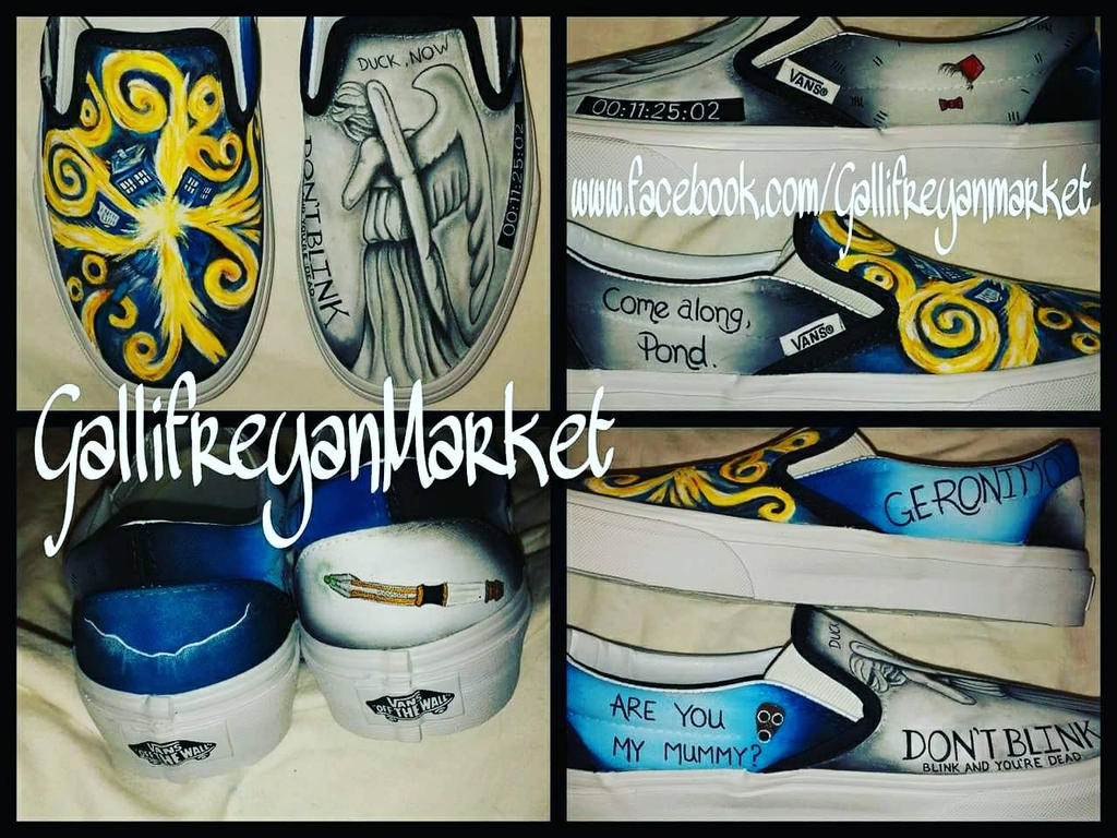 5273c120331d Hand Painted Doctor Who custom Vans shoes by GallifreyanMarket on ...