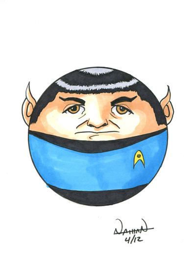 CircleToon: Mr. Spock by Fellhauer