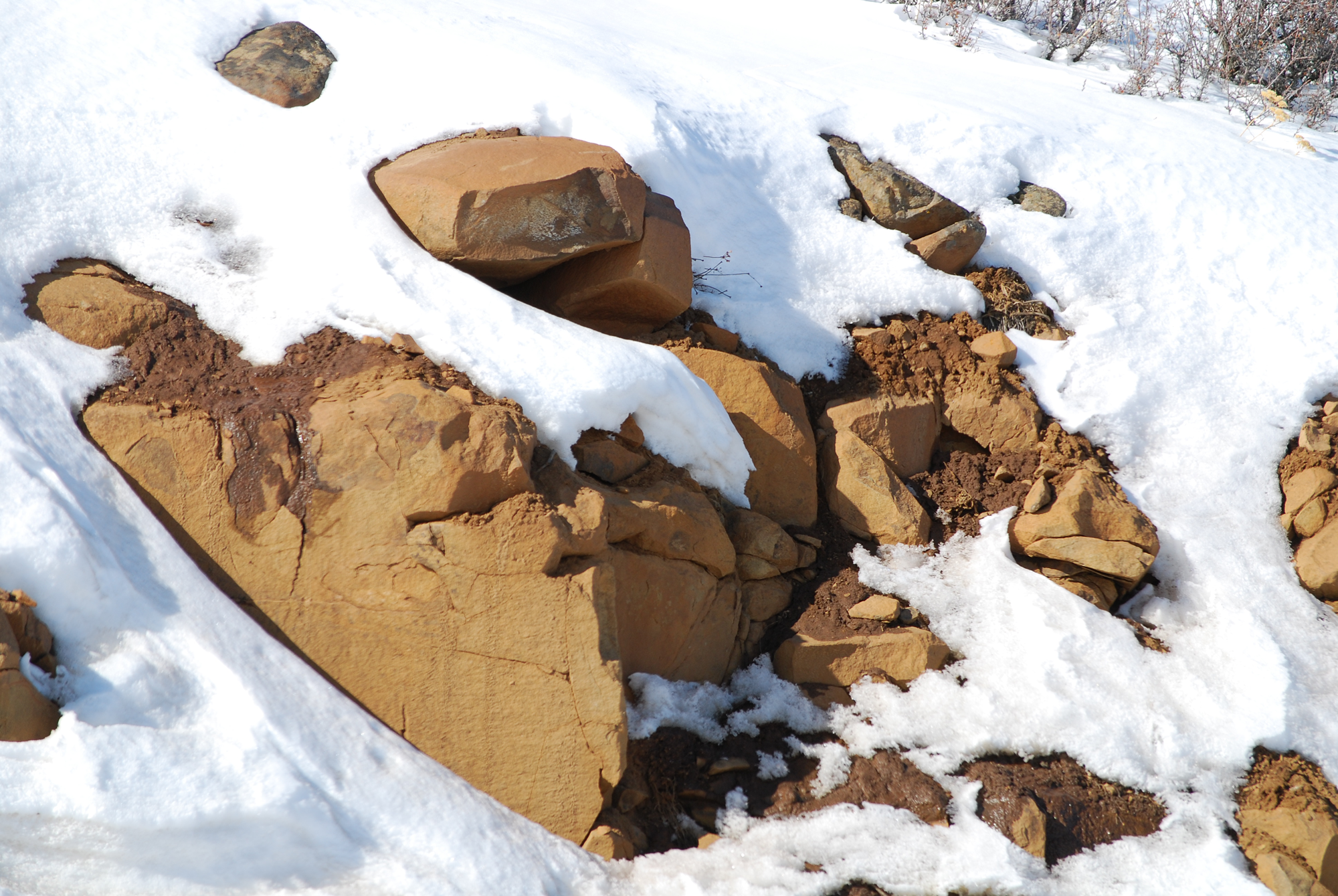 Winter Rock 8 by Garsha-Stock