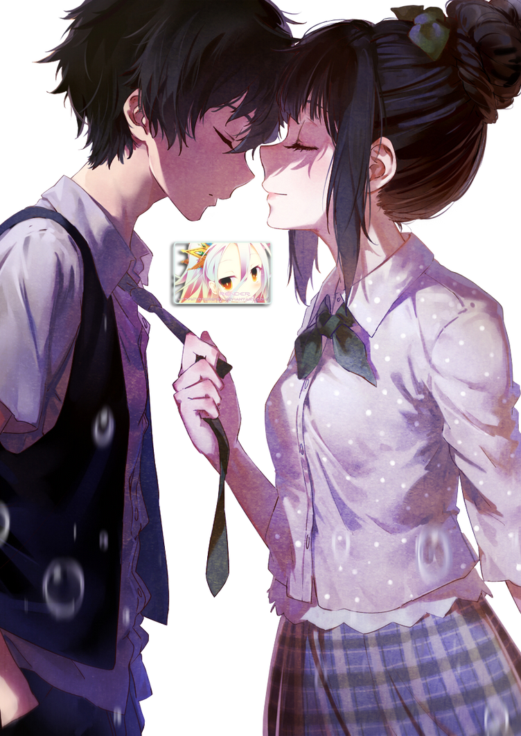 80 Renders Mangas Amour/Amitié Chitanda_and_oreki_render_by_totoro_gx-d7orfnh