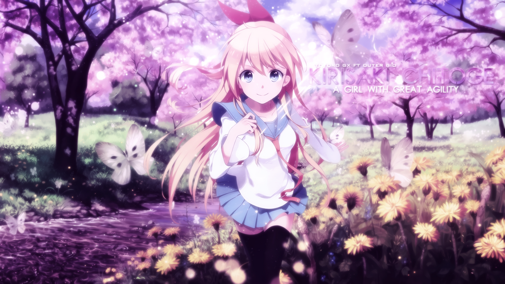 kirisaki chitoge wallpaper collab by totorogx on deviantart