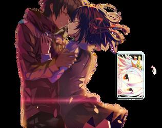 Mitsuha and Taki (Kimi no na wa) Render by DeathToTotoro