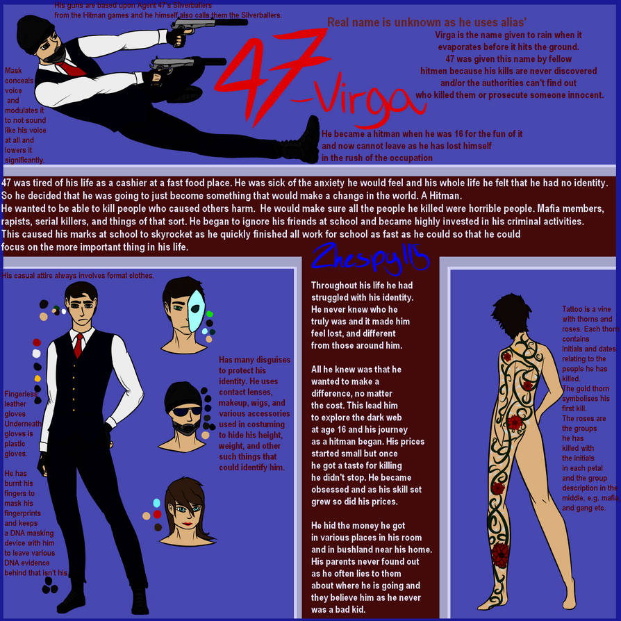 47, Virga, the Hitman [Persona] by Zhespy115 on DeviantArt